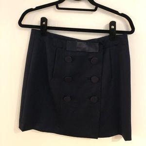 J.Crew Navy Wool Skirt